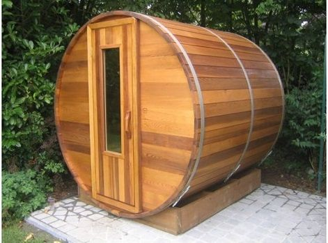 Outdoor saunas design and features cedar barrel saunas for Sauna plans