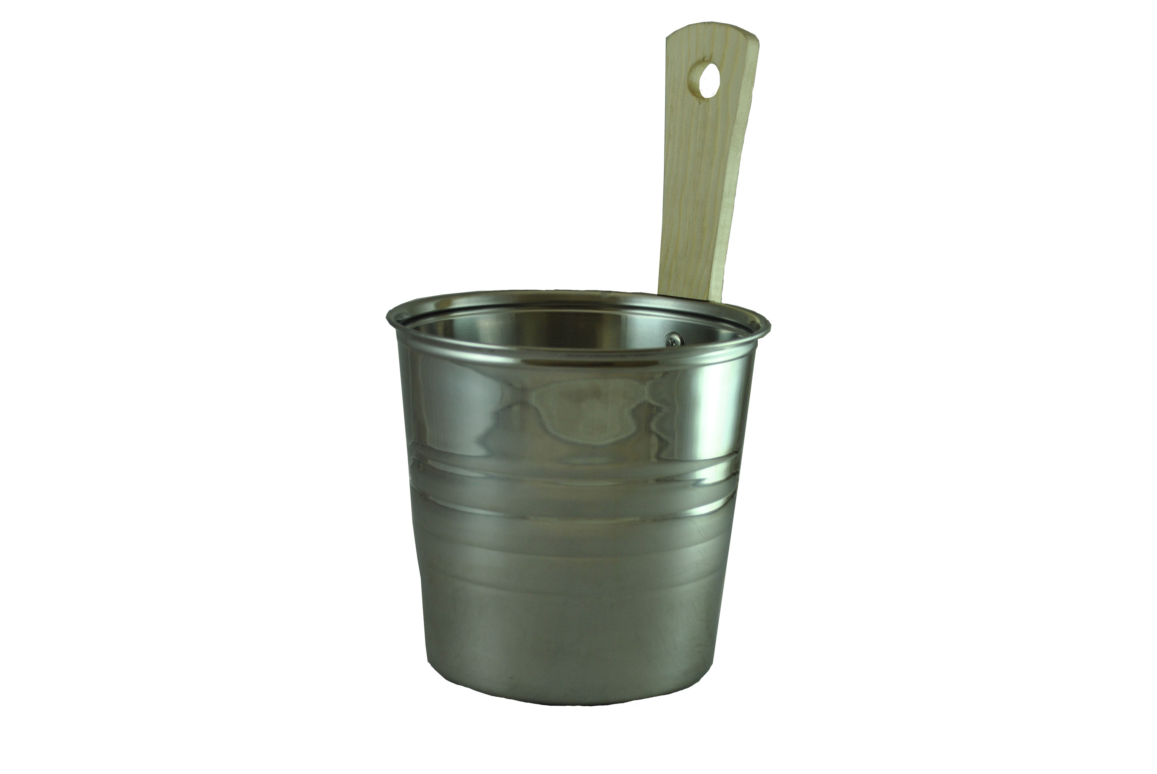 Steel Sauna Bucket - 3.5 Liters