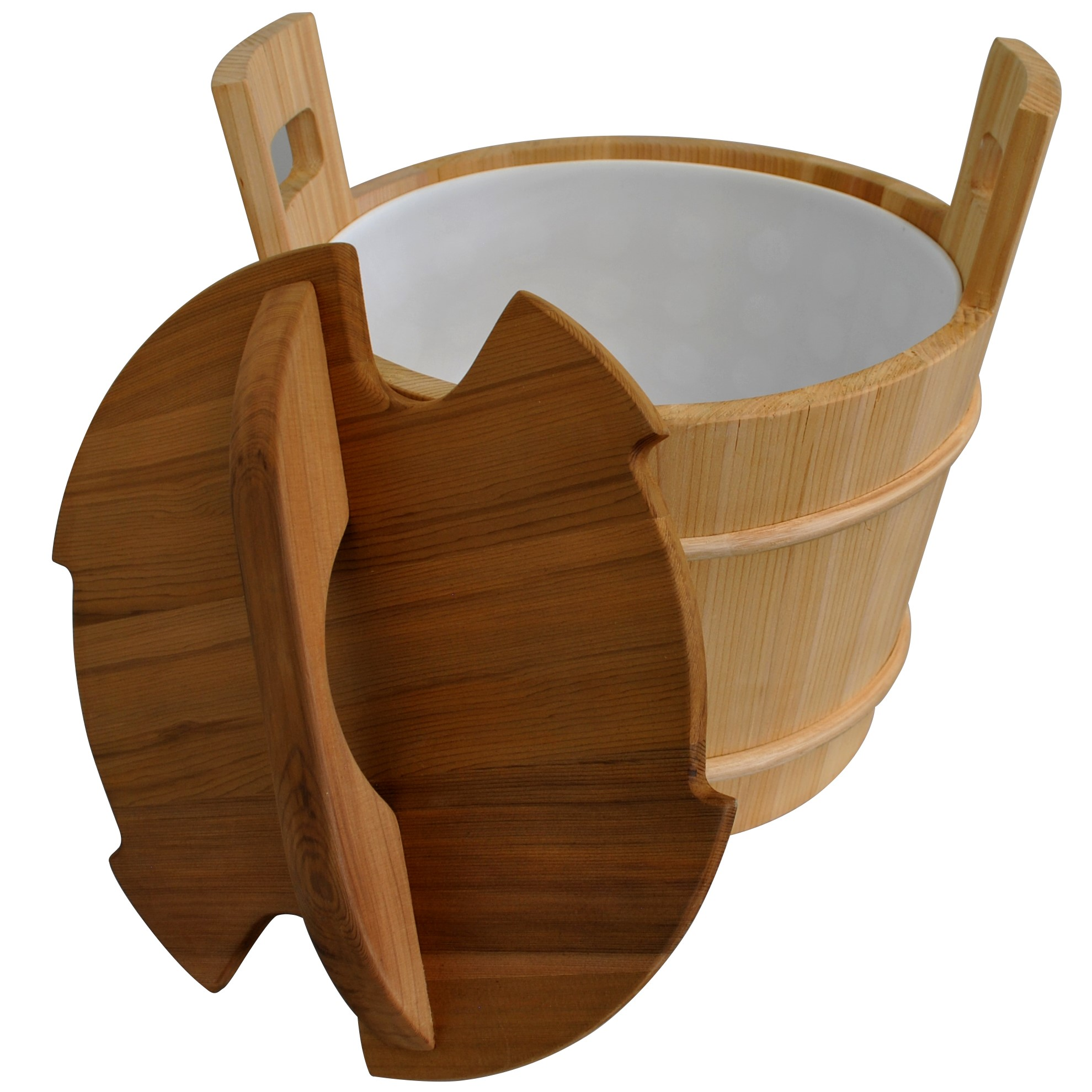 Cedar Sauna Bucket with Liner and Lid - 18L