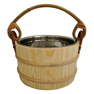 Pine Sauna Bucket - Stainless Steel Insert - 5L