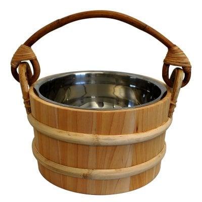 Cedar Sauna Bucket - Stainless Steel Insert - 5L