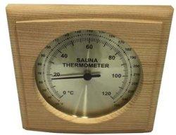 Cedar Sauna Square Thermometer