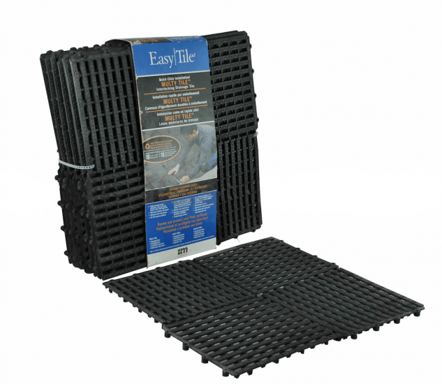 Interlocking Drainage Tiles for Pools and Saunas