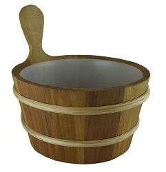 Cedar Sauna Bucket with Liner