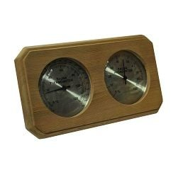 Sauna Thermometer and Hygrometer Cedar