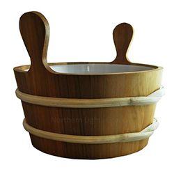 Cedar Sauna Bucket with Liner - 2.6 Gallon