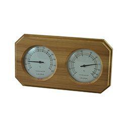 Cedar Sauna Thermometer and Hygrometer- Celsius