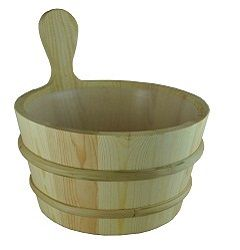 Pine Sauna Bucket with Liner