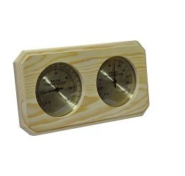 Sauna Thermometer and Hygrometer Pine