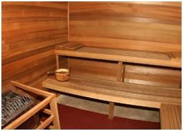 Horizontal Sauna Walls