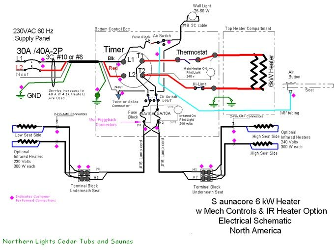 Schematic sauna core hybrid sauna heater sauna heaters sauna wiring diagram at mifinder.co