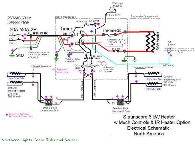 Hybrid Sauna Heater - Sauna heater wiring diagram