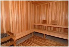 Vertical Sauna Walls