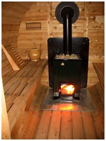wood heated inside