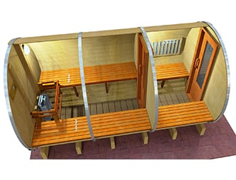 12 x 7 Sauna with Change Room