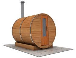 8 foot x 7 foot Barrel sauna (Wood Fired  Heater)