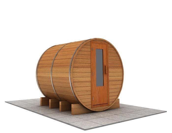 6 foot x 6 foot Barrel sauna (Electric Heater)