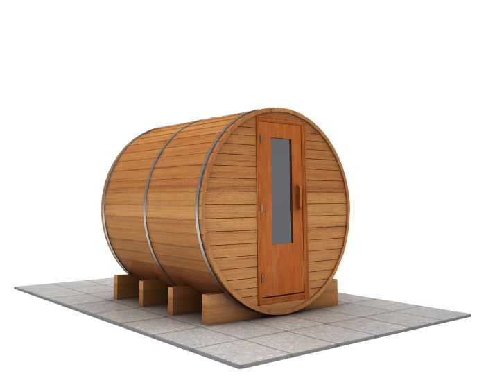 6 foot x 6 foot Barrel sauna (Electric Heater)