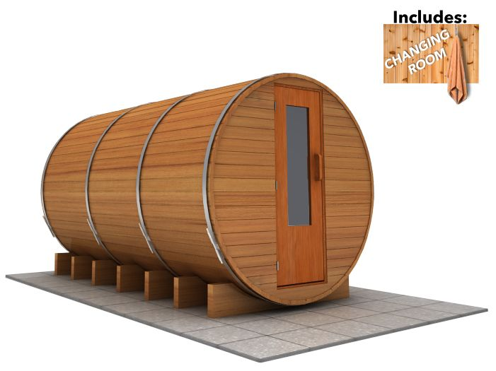 12 x 7 Sauna with Change Room (Electric Heater)