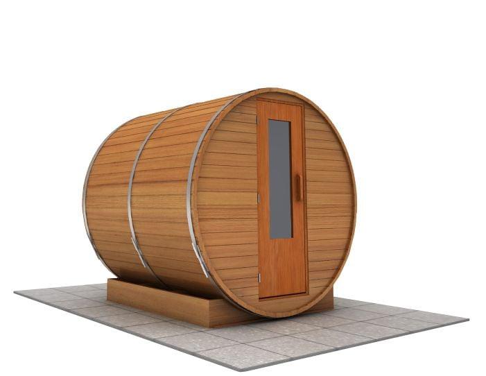 7 foot x 7 foot Barrel sauna (Electric Heater)