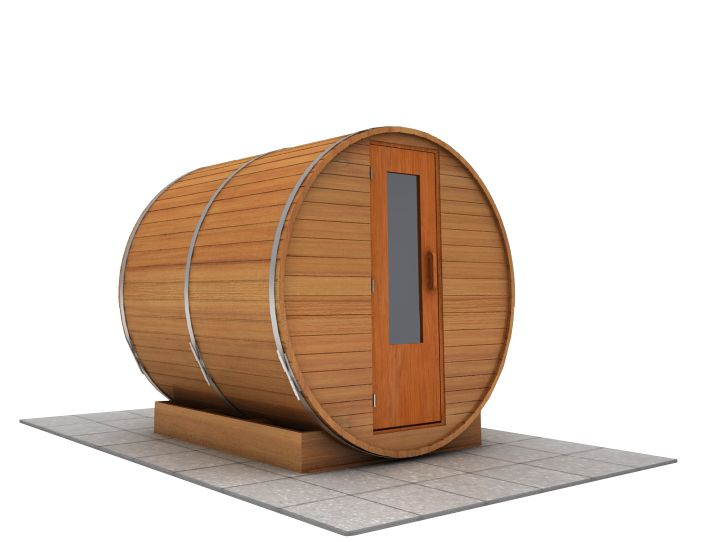 7 foot x 7 foot Barrel sauna (Electric Heater)