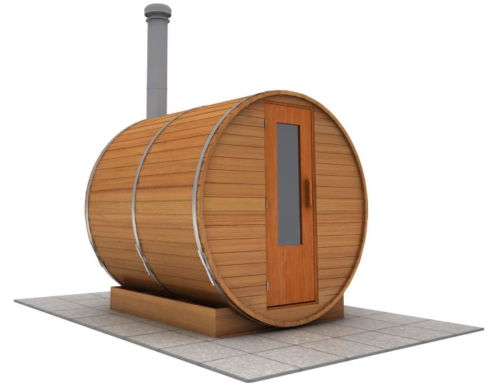 7 foot x 7 foot Barrel sauna (Wood Fired  Heater)
