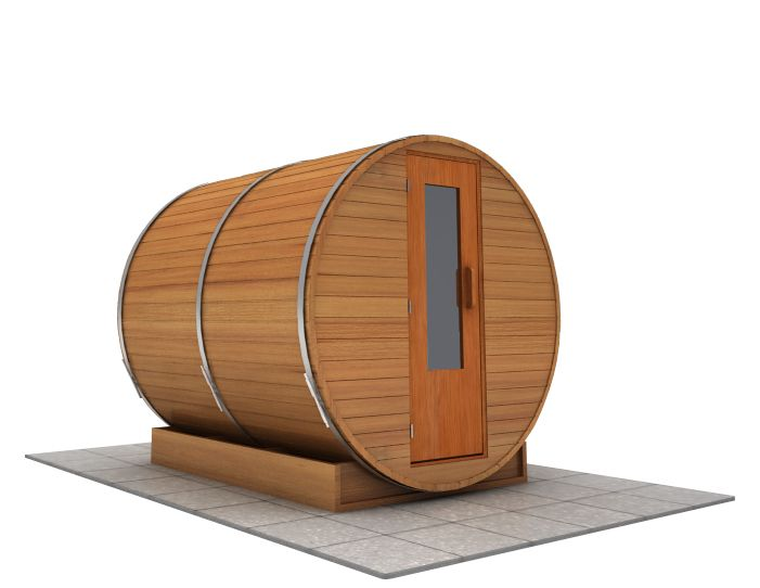 8 foot x 7 foot Barrel sauna (Electric Heater)