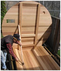 Barrel sauna assembly sauna assembly for Build your own barrel sauna