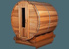 Barrel Saunas - Outdoor Sauna rooms with multiple heating options