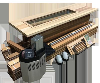 DIY Sauna Kit 4' x 5' Complete Sauna Room Package 5 Kw Electric Heater