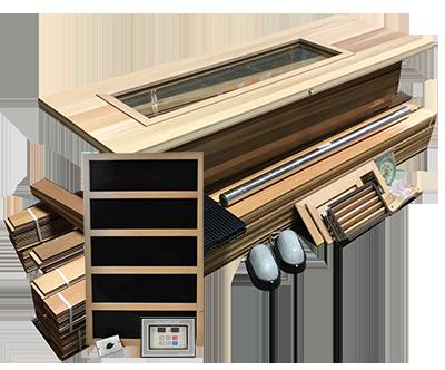 DIY Sauna Kit 4' x 4' Infrared Sauna Room Package 1800 Watt Infrared Heater