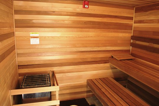 Indoor sauna kit with Finnish Sauna Heater