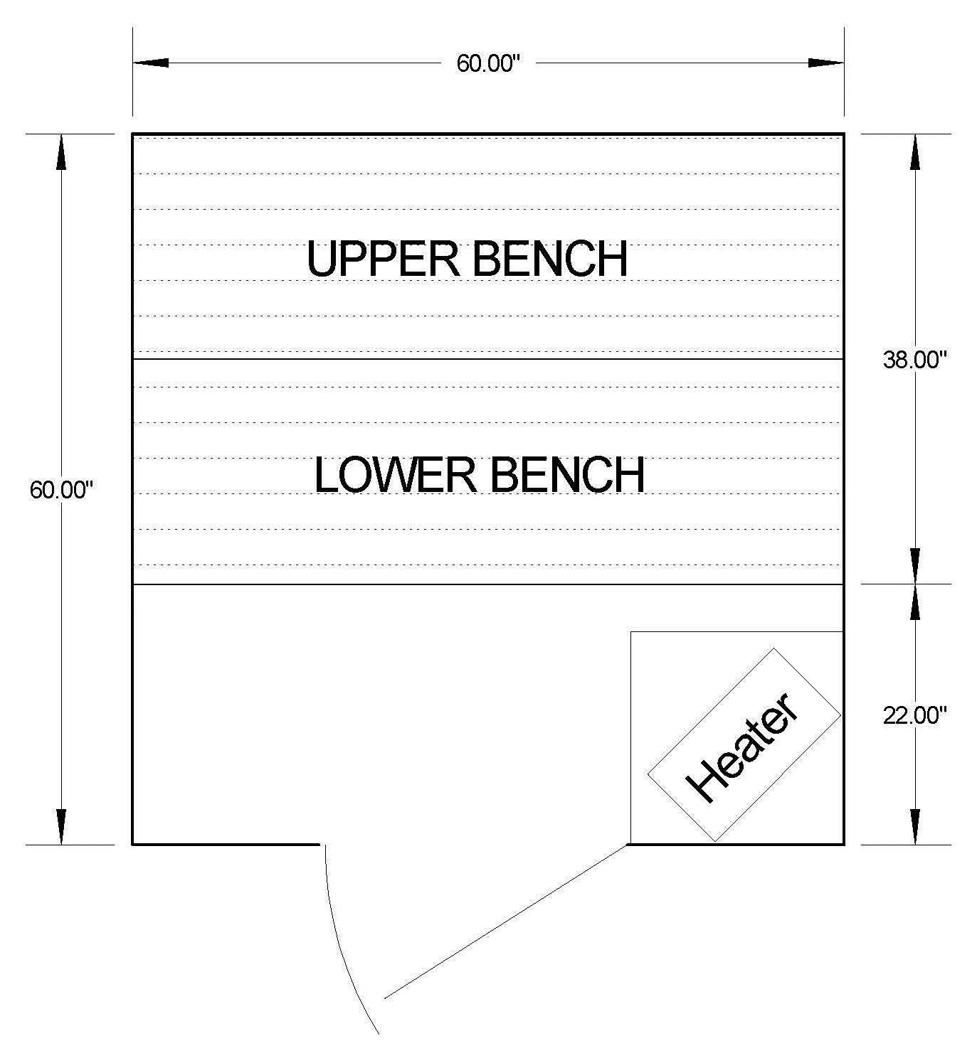 5 x 5 Sauna Room Dimensions