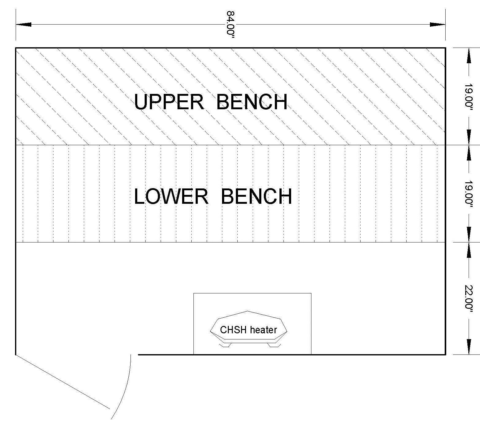 5 x 7 Sauna Room Dimensions