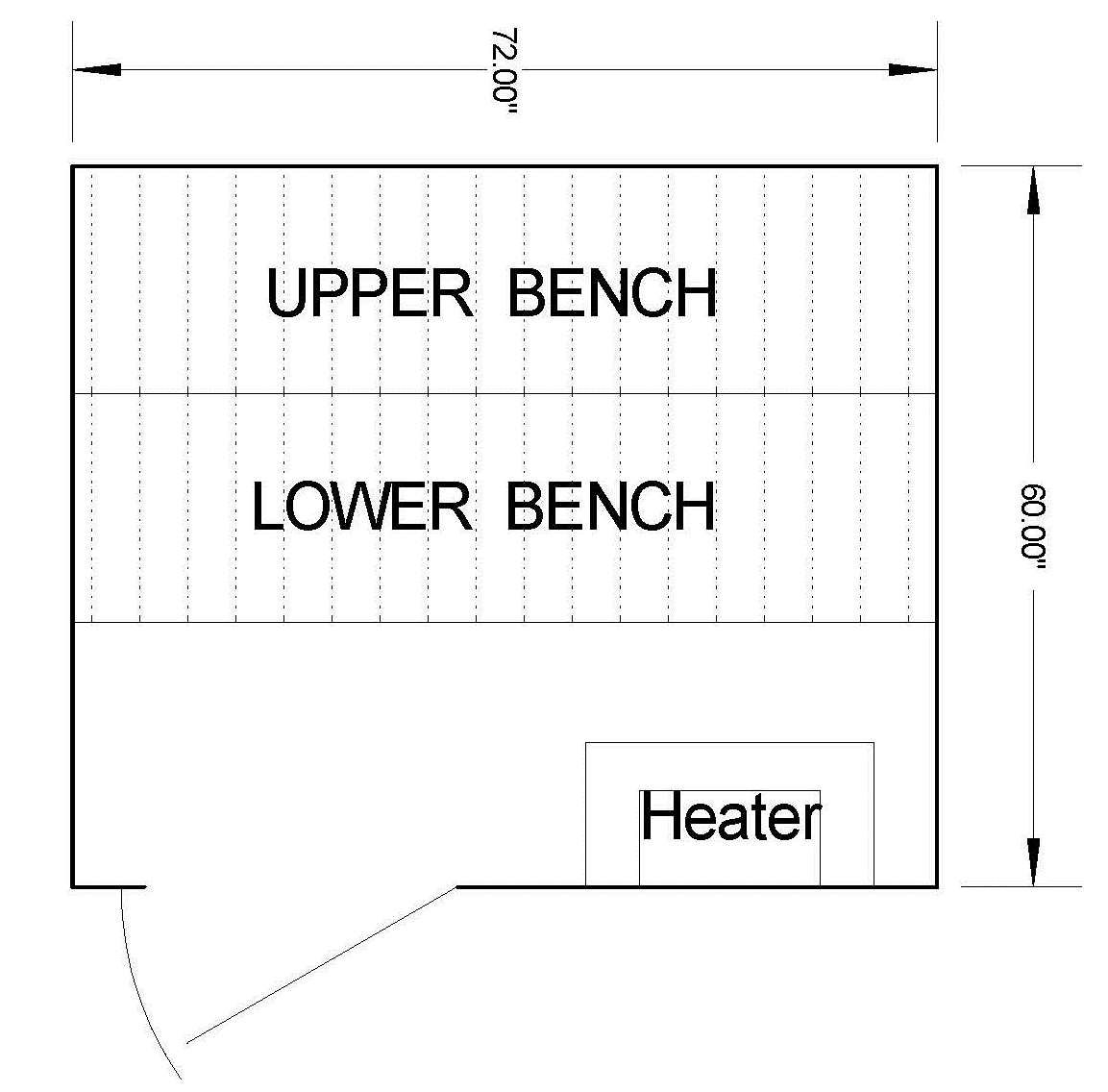 5 x 6 Sauna Room Dimensions