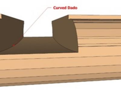 Curved dado design for perfect fit