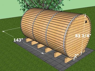 Sauna 12ft Electric Exterior Dimensions