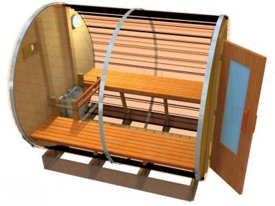Interior Image Of Outdoor Sauna