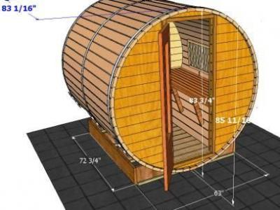 Outside Dimensions Of 7 Sauna