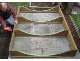 Install sauna base on a level surface