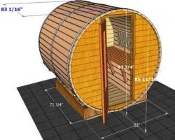 Outside Dimensions of 7' Sauna