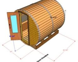 Outside Dimensions of 8' Sauna