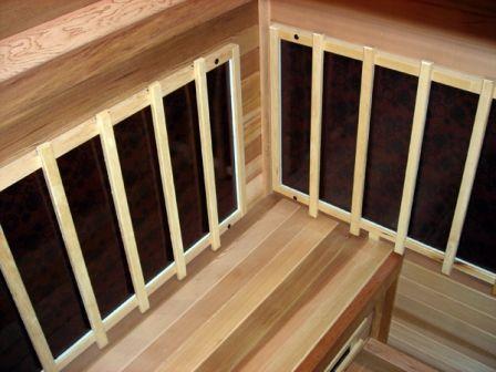DIY Sauna Kit 4' x 5' Infrared Sauna Room Package 2400 Watt Infrared